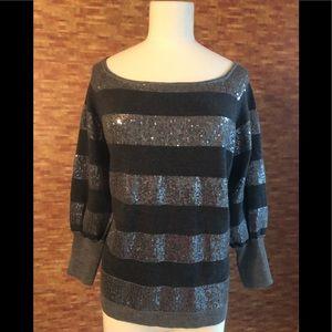 Alice & Olivia size Large sequin grey sweater